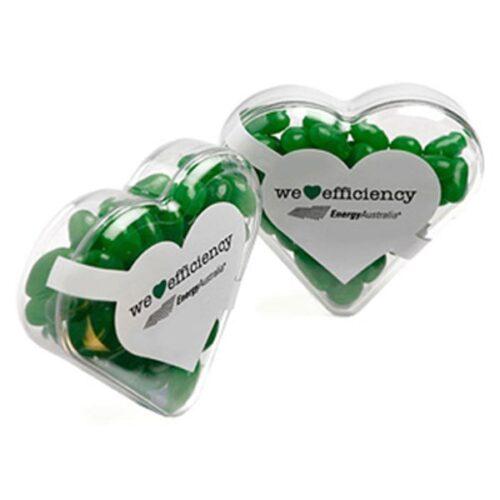 Jelly Beans Acrylic Heart Shape
