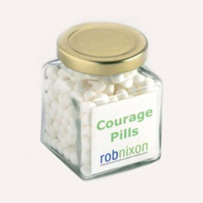 Mints Square Glass Jar