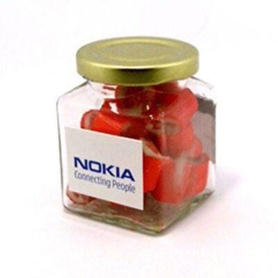 Rock Candy Square Glass Jar