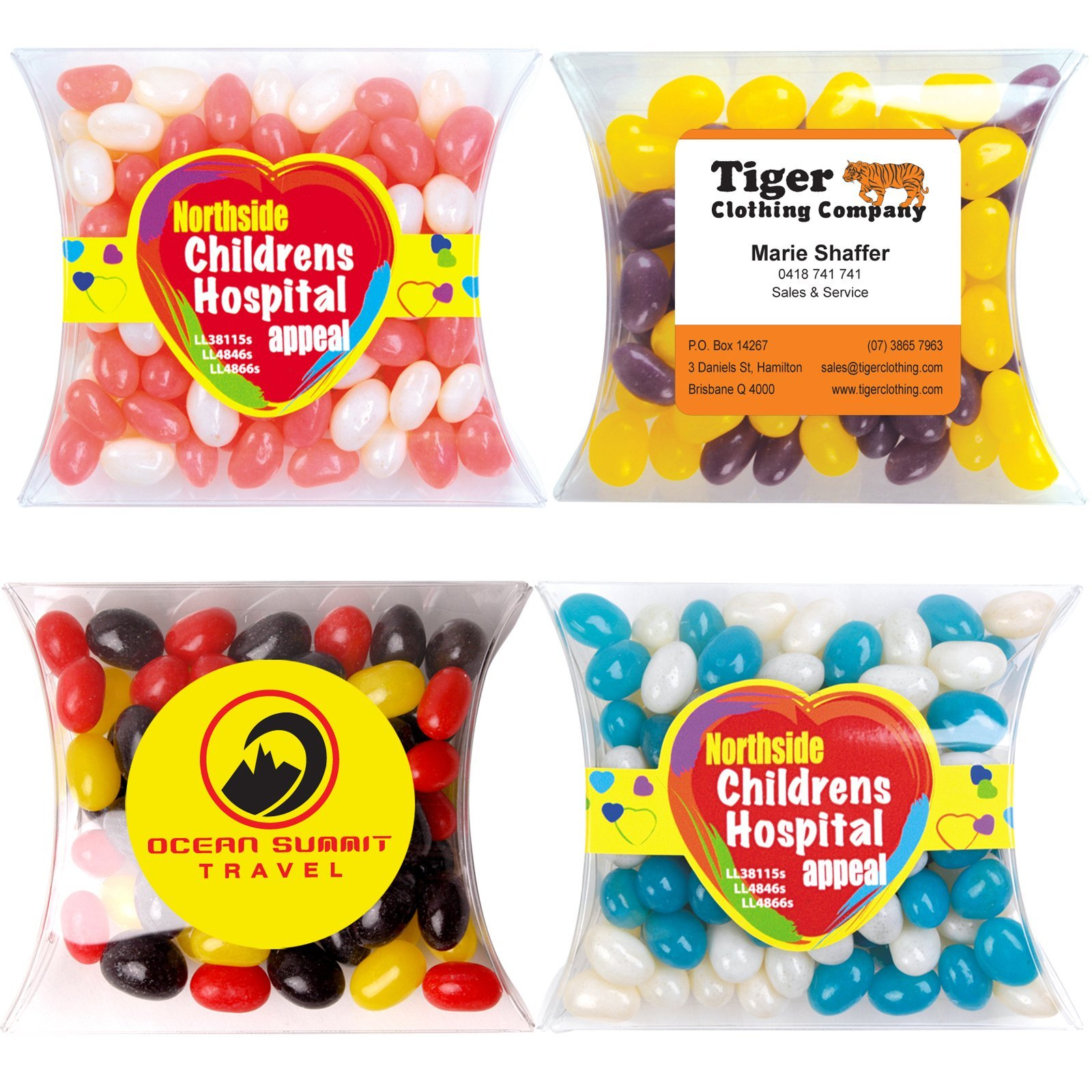 Jelly Beans Corporate Colours 90 gram Pillow Pack