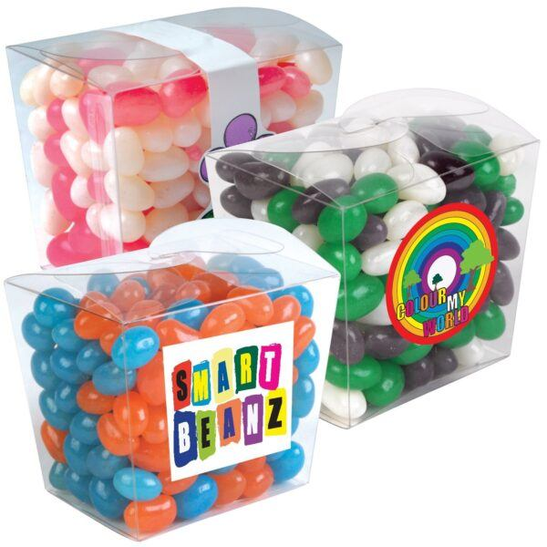 Jelly Beans Corporate Colours Mini Clear Noodle Box