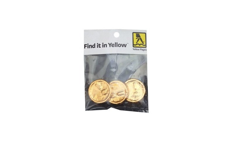 Chocolate Coins in Hang Bag