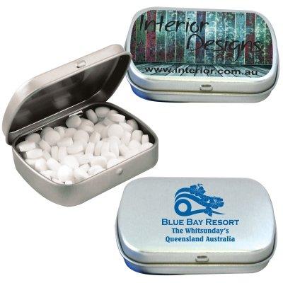 Sugar Free Mints Silver Tin
