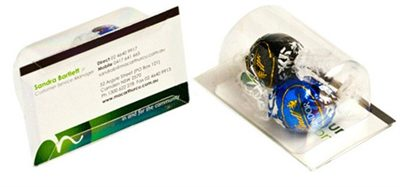 Lindt Lindor Ball Business Cards