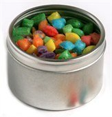 Humbugs Round Acrylic Window Tin