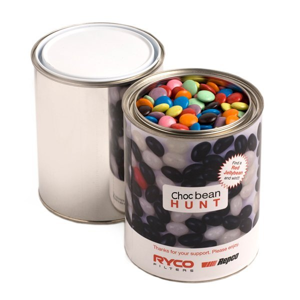 Choc Beans Large Paint Tin