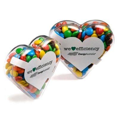M&Ms Acrylic Heart Shape