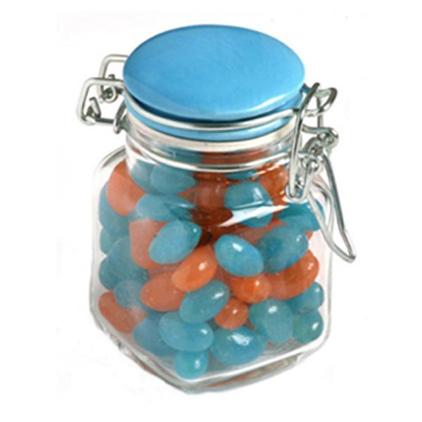 Jelly Beans Small Glass Jar