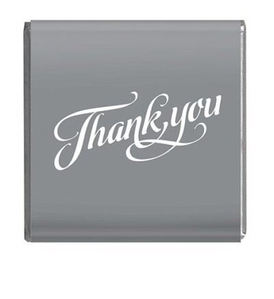 Napolitain 6 gram Thank you Chocolate Silver Square
