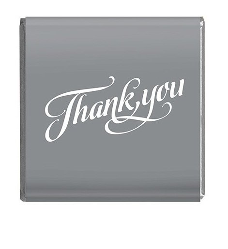 Napolitain 6 gram Thankyou Chocolate Silver Square