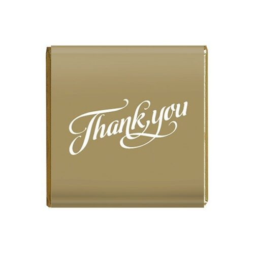 Napolitain 6 gram Thank you Chocolate Gold Square