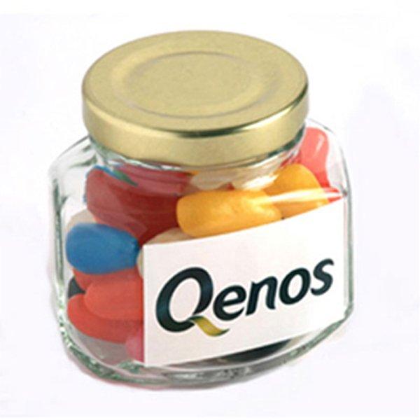 Jelly Beans Glass Jar