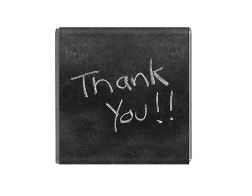 Napolitain 6 gram Thank you Chocolate Chalkboard