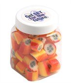 Rock Candy Square Plastic Jar