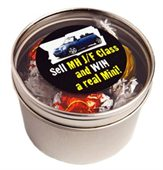 Lindor Balls Round Acrylic Window Tin