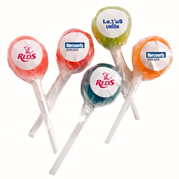 Stickered Lollipops