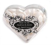 Mints Acrylic Heart Shape