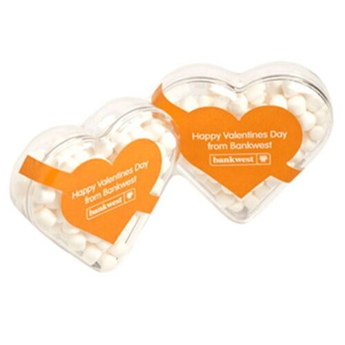 Mints Acrylic Heart Shape