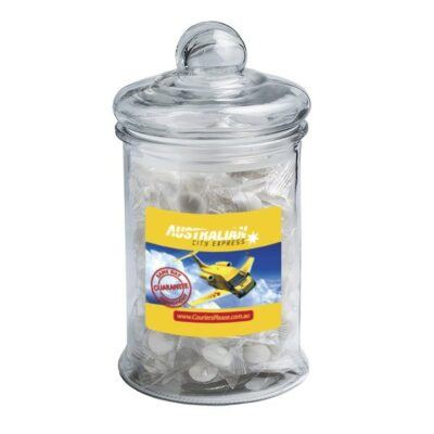 Big Chewy Mints Large Apothecary Jar
