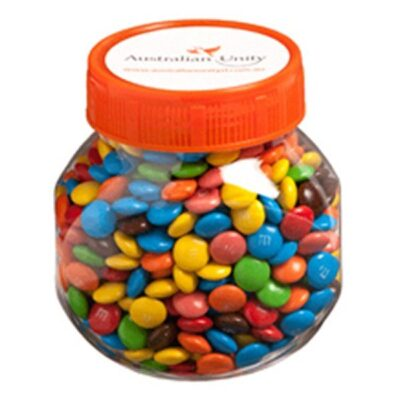 M&Ms Plastic Jar
