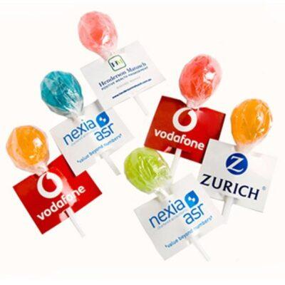 Tag Coloured Lollipops