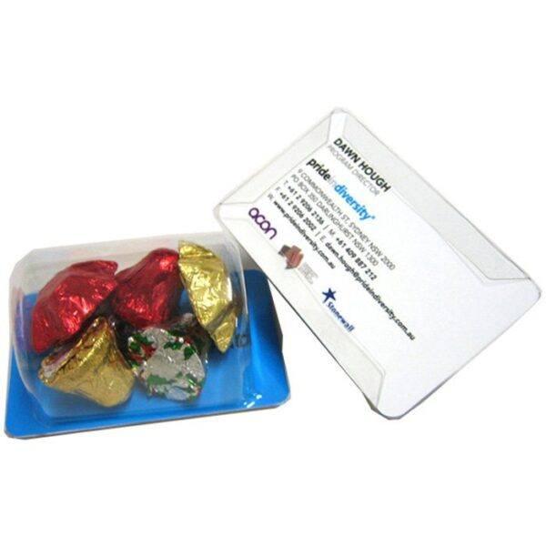 Christmas Chocolates Biz Card Treats