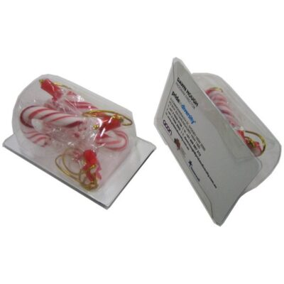 Candy Canes Biz Card Treats