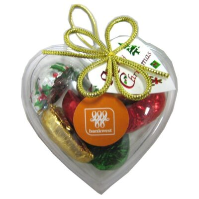 Christmas Chocolates Acrylic Heart Shape