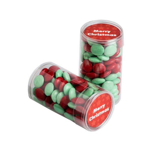 Christmas Choc Beans Tube