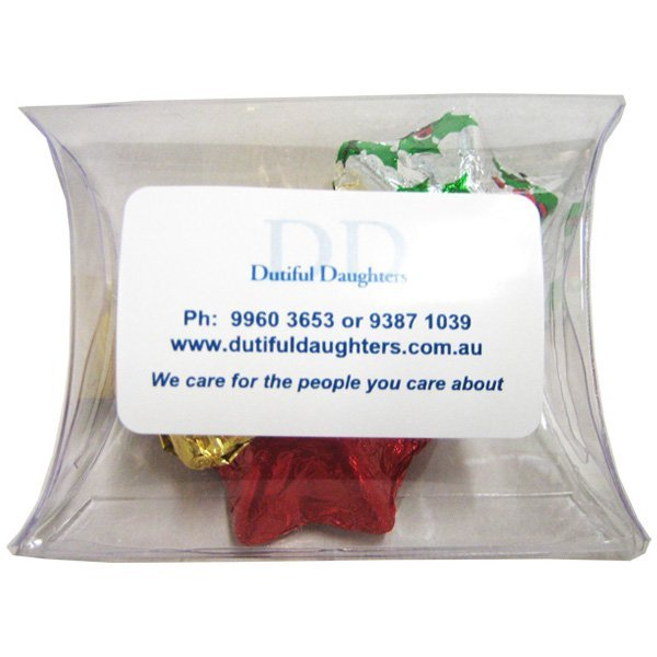 Christmas Chocolates 25 gram Pillow Pack