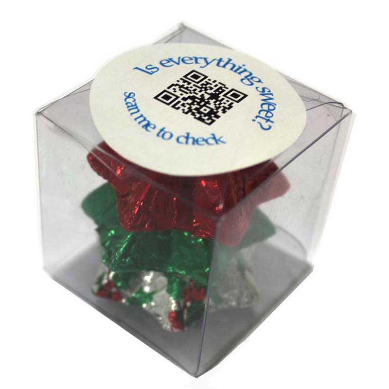 Christmas Chocolates 30 gram Cube