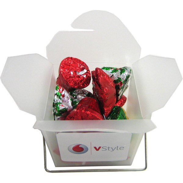 Christmas Chocolates Frosted Noodle Box