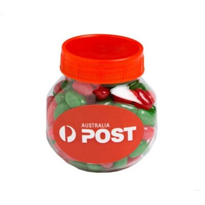 Christmas Jelly Beans Plastic Jar