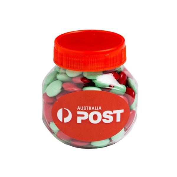 Christmas Choc Beans Plastic Jar