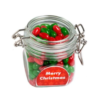 Christmas Jelly Beans Acrylic Canister