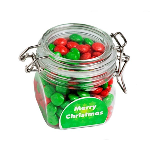 Christmas Chewy Fruits Acrylic Canister