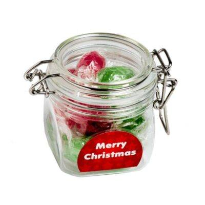 Christmas Boiled Lollies Acrylic Canister