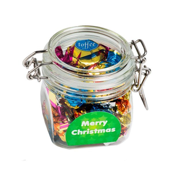 Christmas Chocolate Eclairs Acrylic Canister