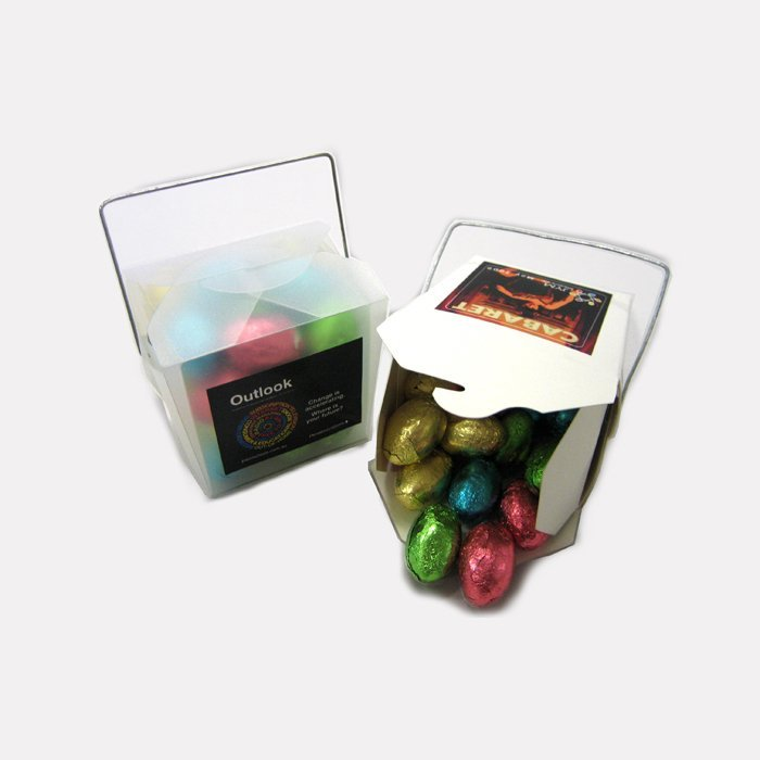Choose the Mini Solid Easter Eggs White Noodle Box for your special clients this Easter.