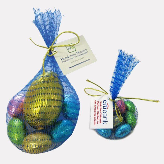 Mini Solid Easter Eggs Mesh Bag