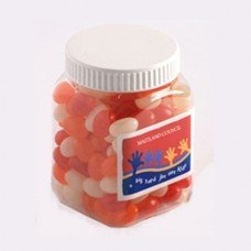 Jelly Beans Square Plastic Jar