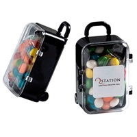 Acrylic Carry-on Case with Chewy Fruits 50 grams