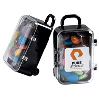 Acrylic Carry-on Case with Choc Beans 50G