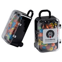 Acrylic Carry-on Case with M&Ms 50 Grams