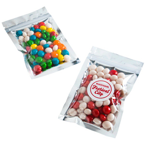 Chewy Fruits Silver Zip Lock Bag 50 Grams