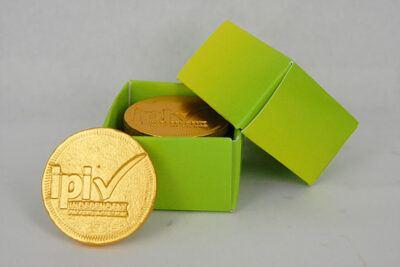 Custom Stamped Chocolate Coins Custom Box Five