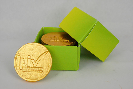 Custom Stamped Chocolate Coins Custom Box Five