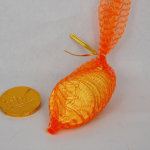 Custom Stamped Ten Chocolate Coins Mesh Net Bag