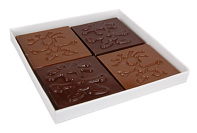 Four pack mixed chocolate box