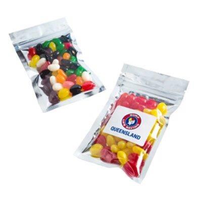 Jelly Beans Silver Zip Lock Bag 50 Grams